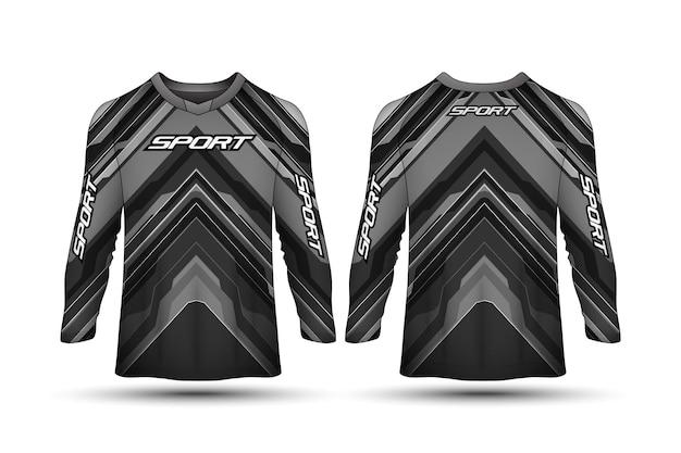 長袖tシャツデザインテンプレートレーシングスポーツバイクジャージーシャツデザイン