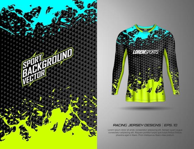 레이싱 저지 사이클링 축구 게임을 위한 긴 소매 티셔츠 스포츠 디자인