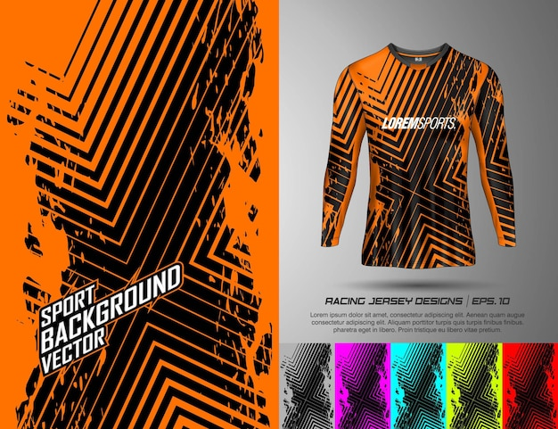 Long sleeve tshirt sports design for racing jersey cycling football gaming