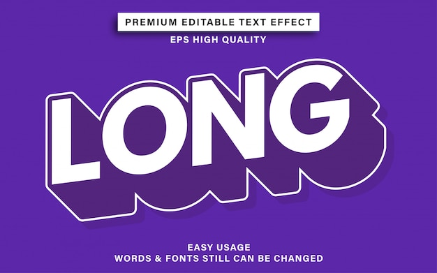 Long style editable text effect