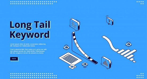 Long tail keyword isometric landing page