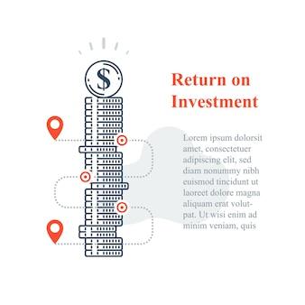 장기 투자 전략, 주식 시장 포트폴리오 증가 템플릿