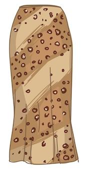アニマルプリントサファリスタイルのロングレディーススカート