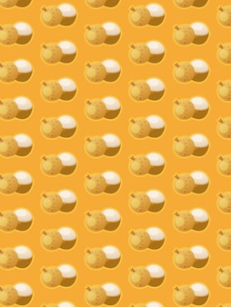 Longan pattern on yellow background