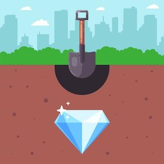 Искать сокровища под землей