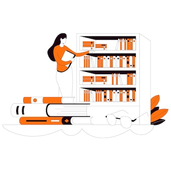 Look in the library flat style illustration kit