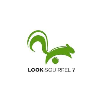 Look squirrel logo