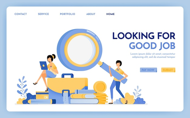 Looking for good job landing page