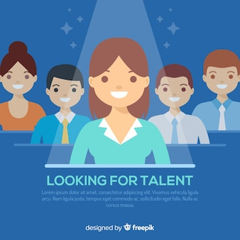 Looking talent background template