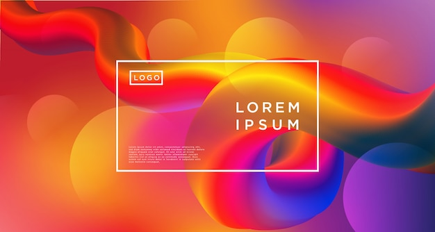 Loop gradient purple orange abstract background