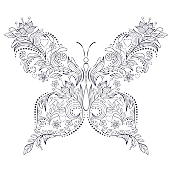 Loral butterfly