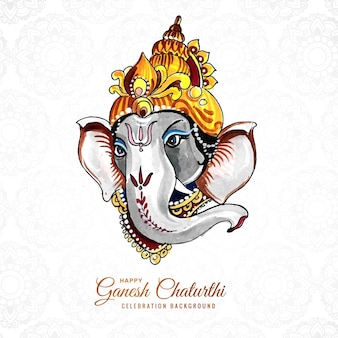 Lord ganesh chaturthi indian festival card background