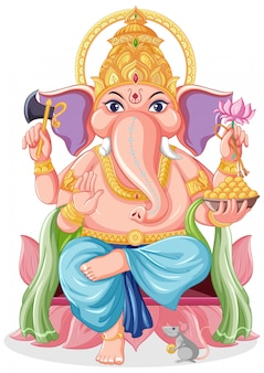 Lord ganesha in stile cartone animato
