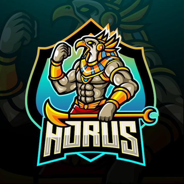 The lord of horus esport logo. mascot logo design
