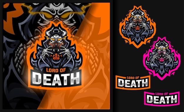 죽음의 제왕 해골 마스크 게임 마스코트 로고
