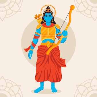 Lord rama holding a bow in hand
