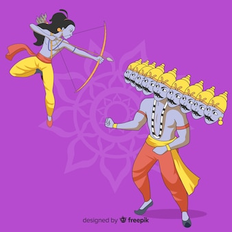 Lord rama and ravana character