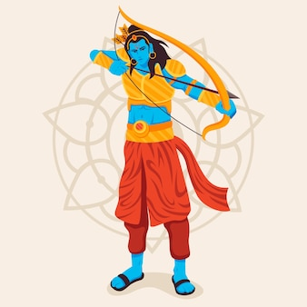 Lord rama using the golden bow and arrow