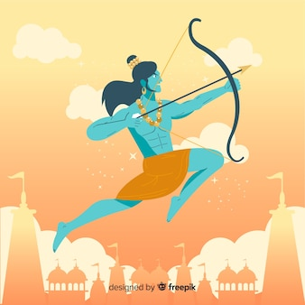 Lord rama with arrow and bow