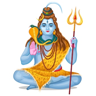 Lord shiva. holiday maha shivratri.