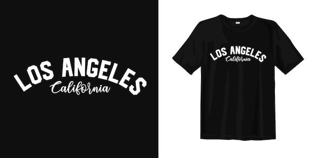 로스 엔젤레스, 캘리포니아. 어반 스타일웨어 티셔츠 디자인