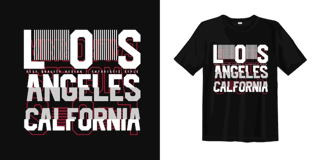 Los angeles california with glitch style for print