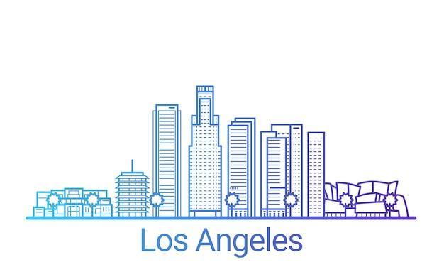 Los angeles city colored gradient line