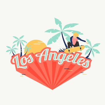 Los angeles city lettering