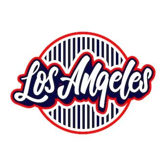 Los angeles lettering badge emblem