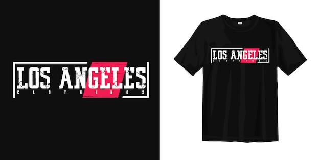 Los angeles print t shirt
