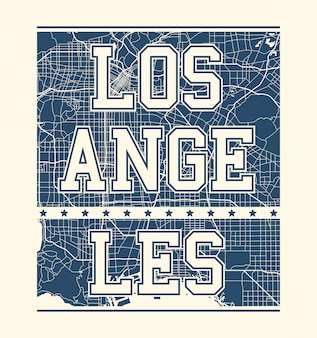 Los angeles tee print with city streets