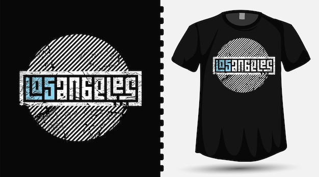 Los angeles typography lettering design template for t shirt fashion clothing and poster