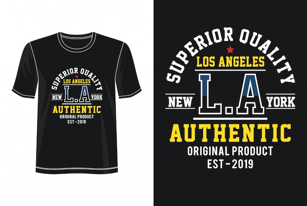 Los angeles typography for print t shirt