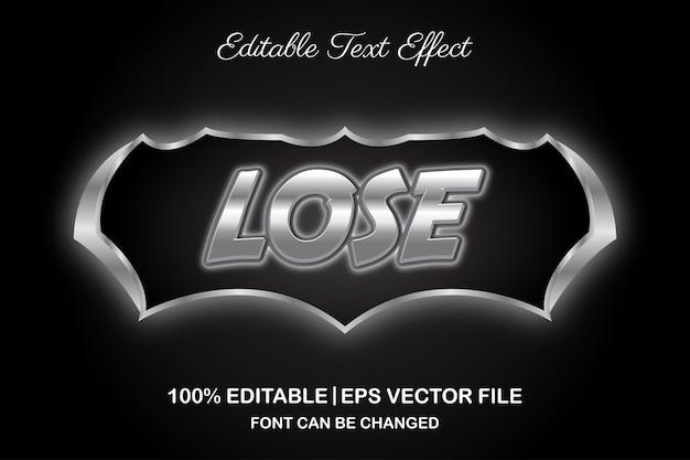 Потеряйте игровой редактируемый текстовый эффект в стиле 3d