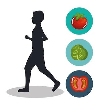 Значки концепции потери веса