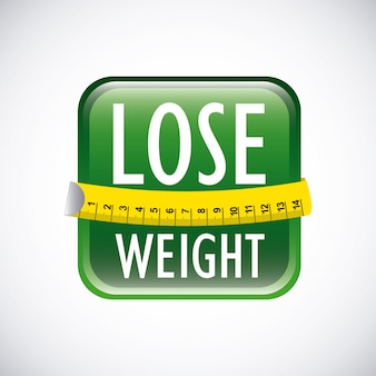 Lose weight over gray background  vector illustration