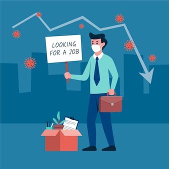 Loss job due to coronavirus crisis