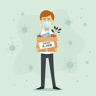 Perdita di lavoro a causa della crisi del coronavirus