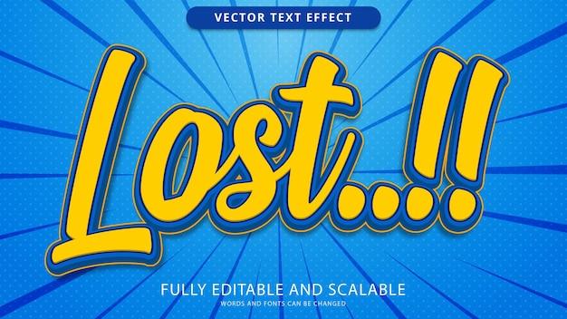 Потерянный текстовый эффект редактируемый файл eps