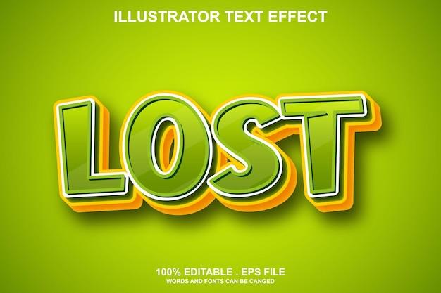 Потерянный текстовый эффект редактируемый