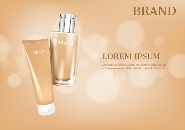 Lotion and cream with glittering lights