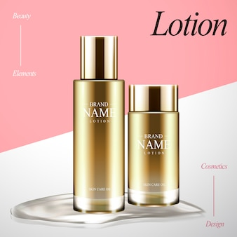 Lotion design elements illustration