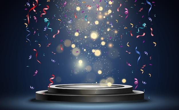 Много красочных крошечных конфетти и лент на прозрачном фоне. праздничное мероприятие и вечеринка. многоцветный фон. красочные яркие конфетти, изолированные на прозрачном фоне