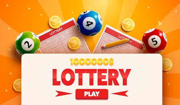 Lottery background with place for text