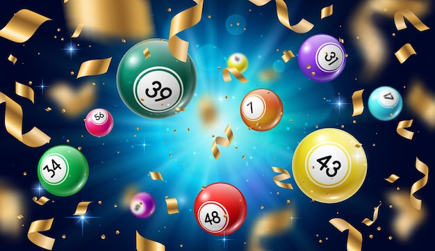 Premium Vector | Lottery 3d icon balls ticket phone isolated on white  vector illu