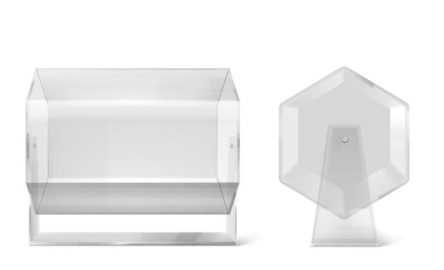 正面図と側面図の宝くじドラム空ラッフルラッフルホイール