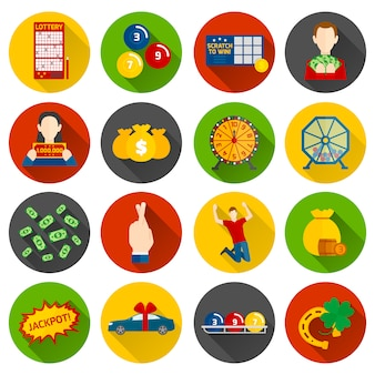 Lottery icon flat