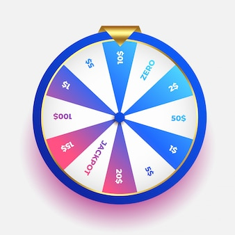 Lottery luck wheel of fortune design