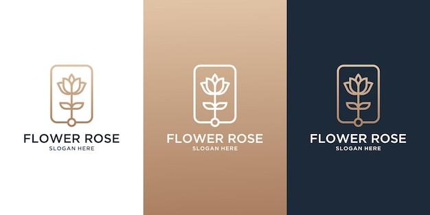 Шаблон логотипа салона красоты и ухода за волосами цветок лотоса