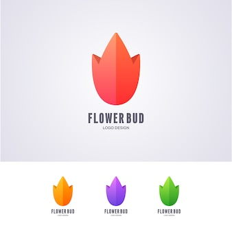 Lotus flower bud logo design
